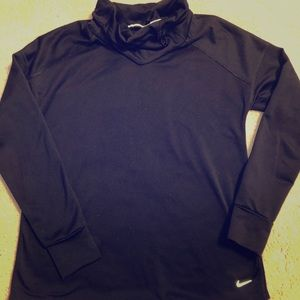 Nike DRI-FIT loose turtle neck long sleeve top, S.